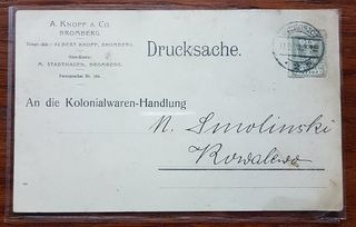 SRARA PRZESYŁKA POCZTOWA BYDGOSZCZ 1920