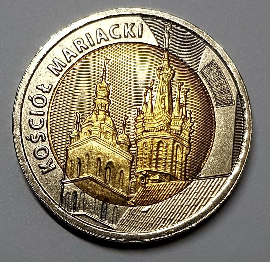 Памятная монета 5 PLN Костёл Святой Марии 2020