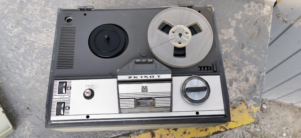 Kolekcjonerski Magnetofon Szpulowy Unitra ZK 140T