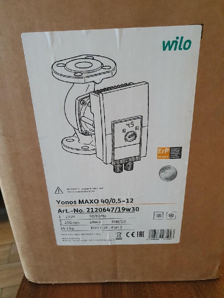 Новый насос центрального отопления Willo для больших установок.