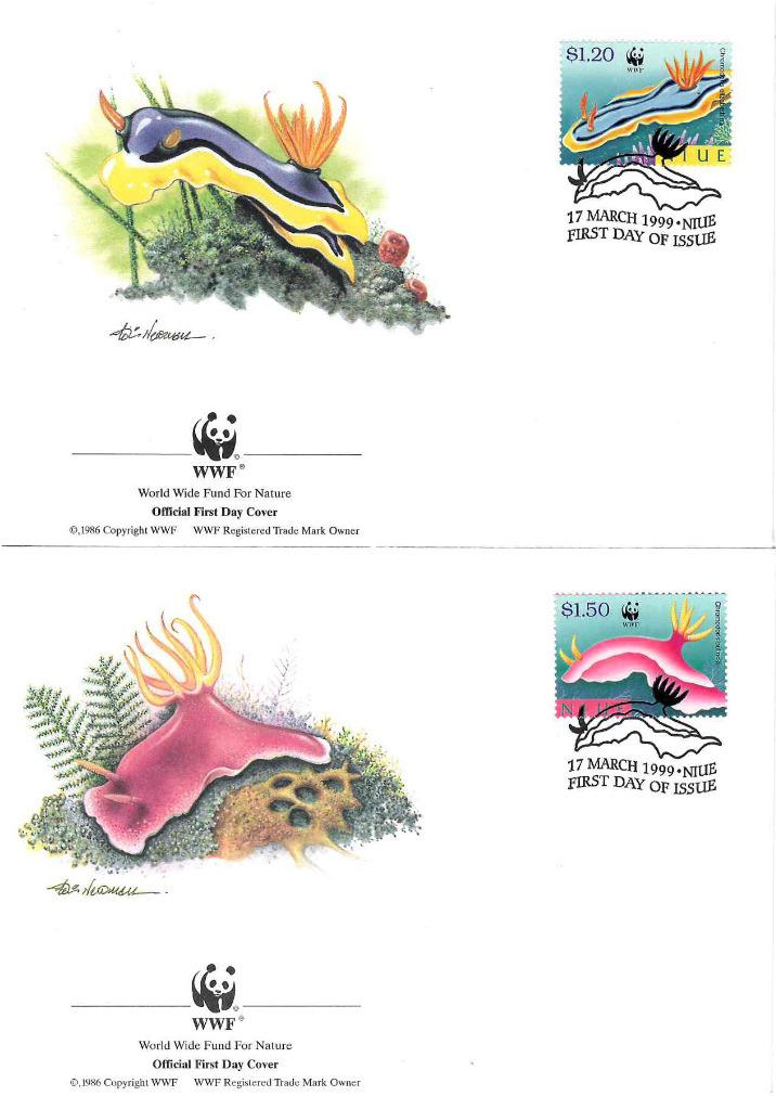Zestaw 4 kopert WWF Niue nr 55