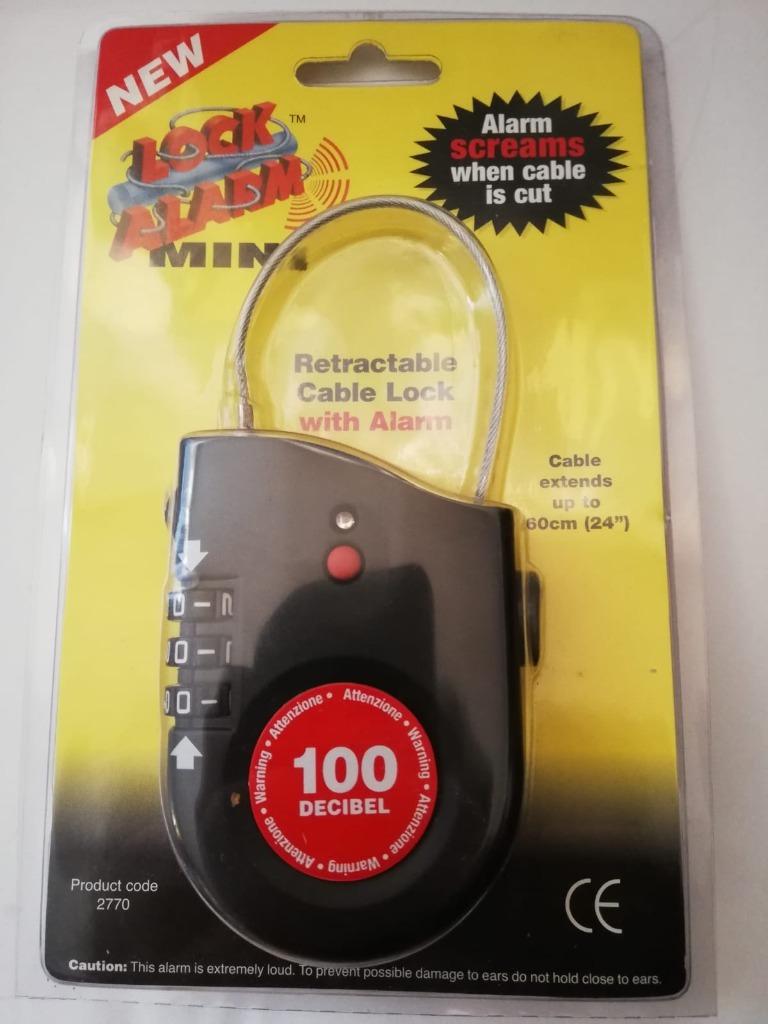 Lock Alarm 0,6 m 100 decybeli zabezp. bagażu, sprz