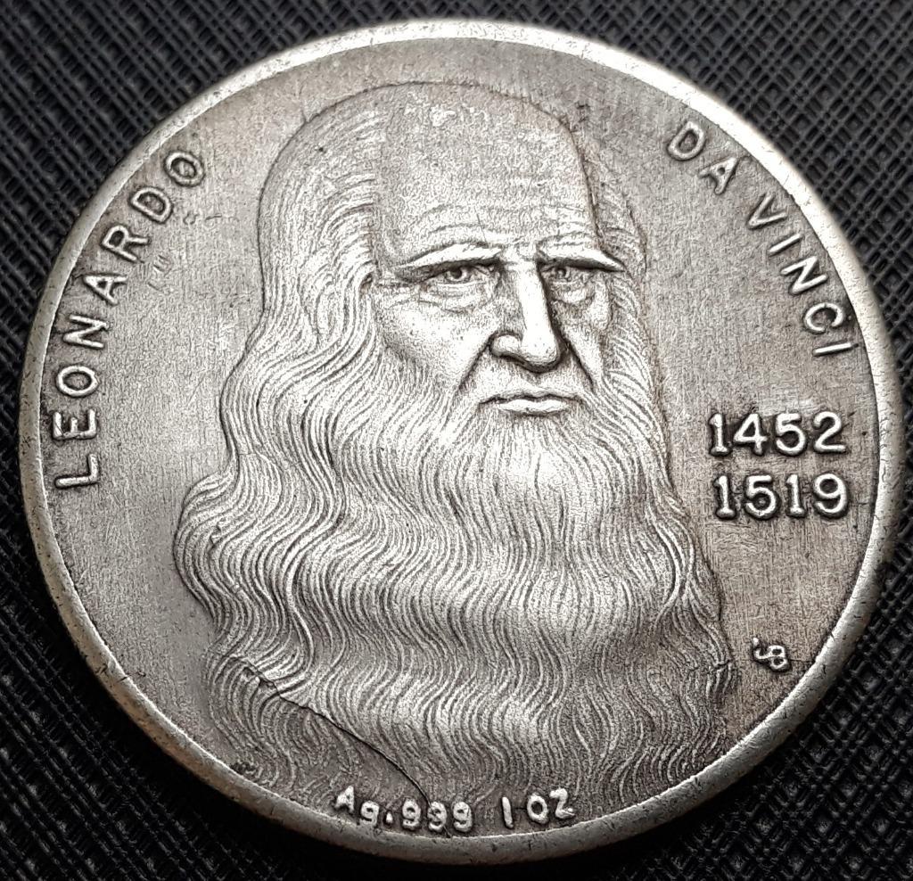 Medal , Leonardo da Vinci 1452 - 1519 , WŁOCHY