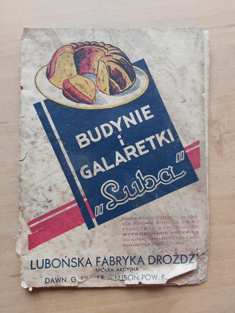 Książka z przepisami 1933 budynie i galaretki