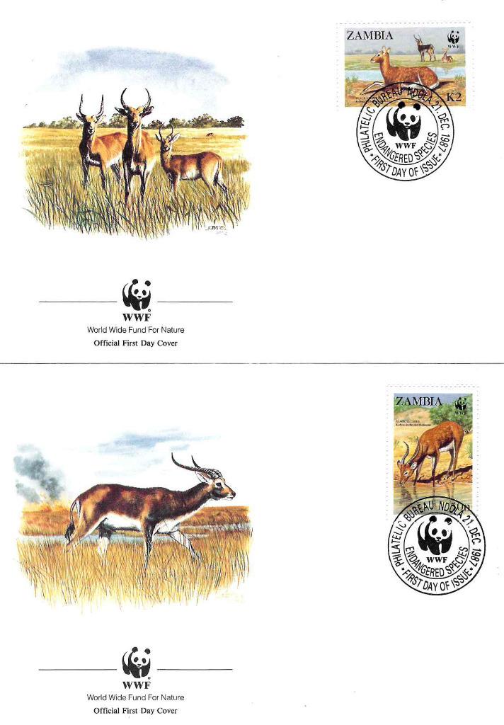 Zestaw 4 kopert WWF Zambia nr 75