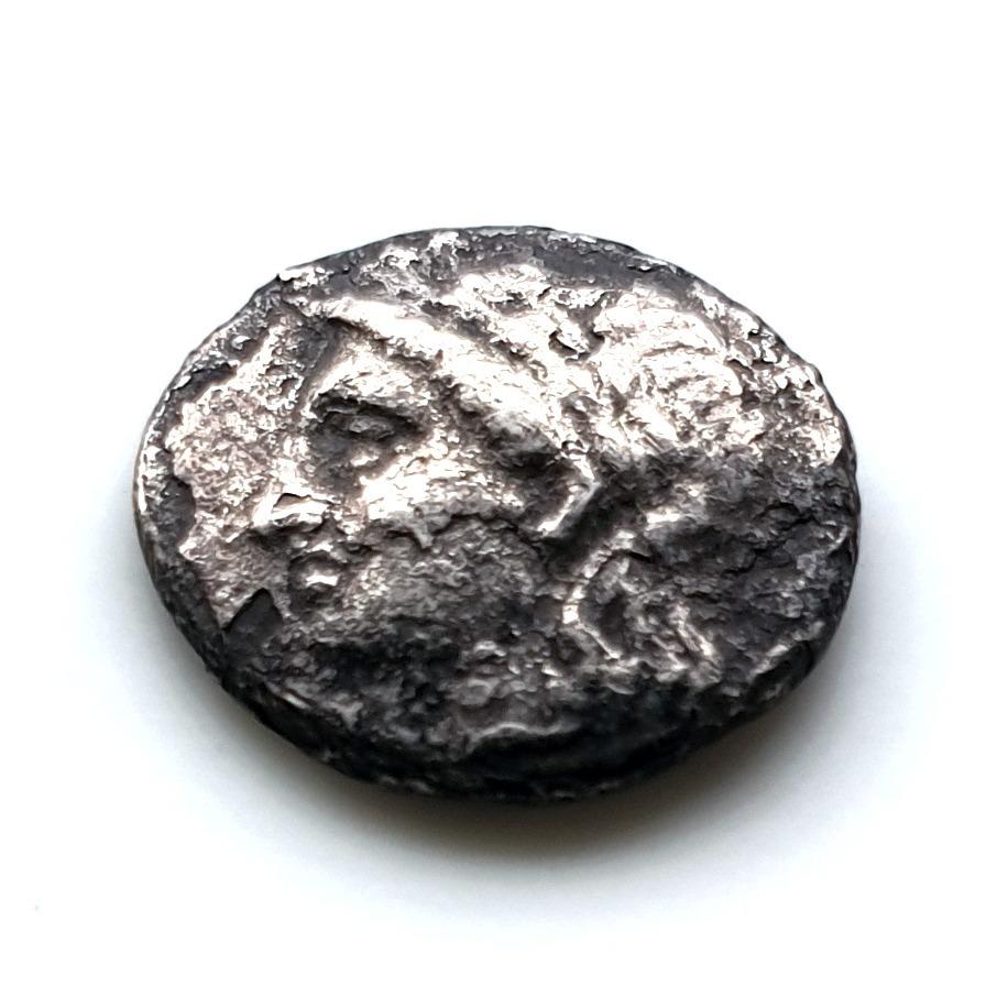 RZADKA hemidrachma z MILETU, APOLLO LEW 360-350BC