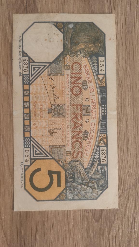 5 francs Dakar