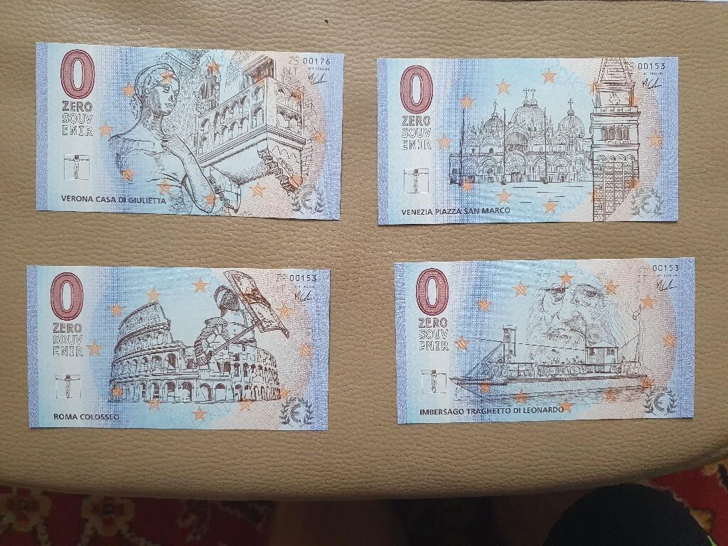 Banknoty 0 euro souvenir 8 sztuk Niskie numery!!!