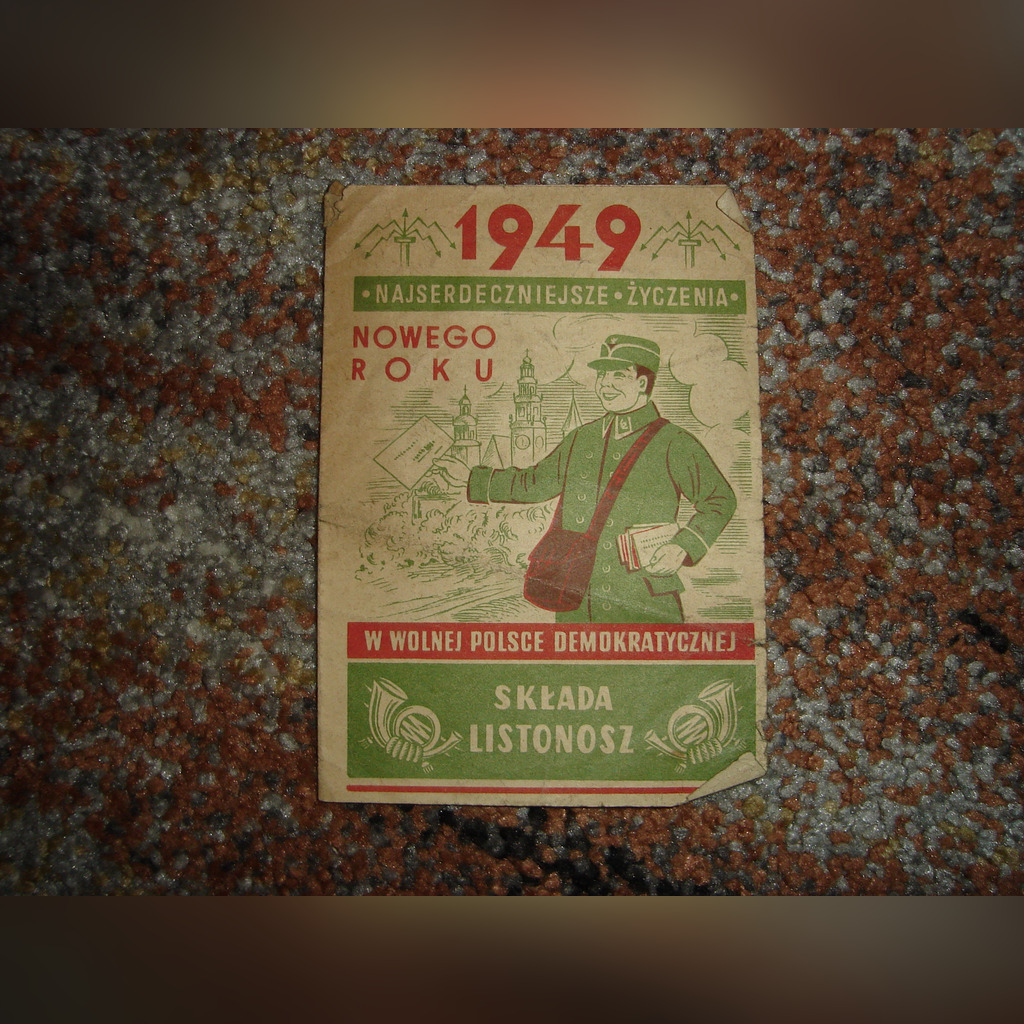 1949 ULOTKA POCZTAPOLSKA