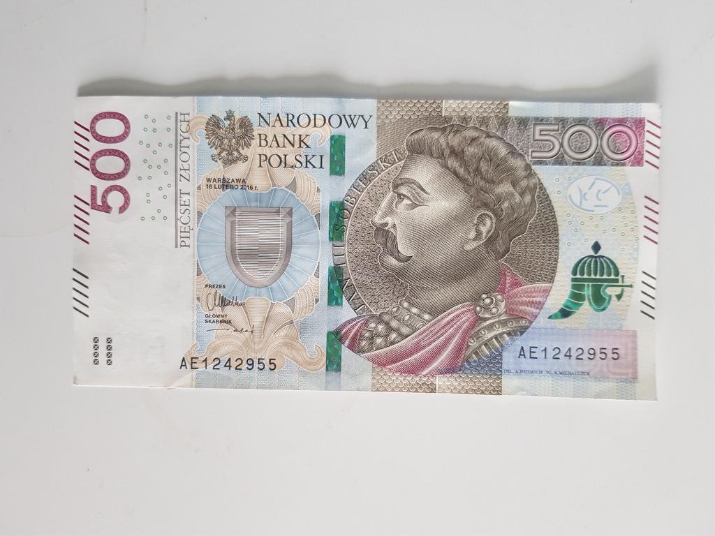 Banknot 500 Zl Seria Ae Idealny Kup Teraz Za 600 00 Zl Ruda Slaska Allegro Lokalnie