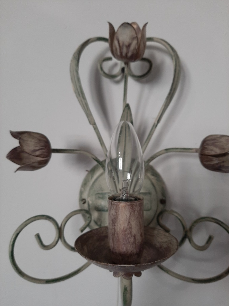 Piękny kinkiet-lampka,wyjątkowa  metaloplastyka