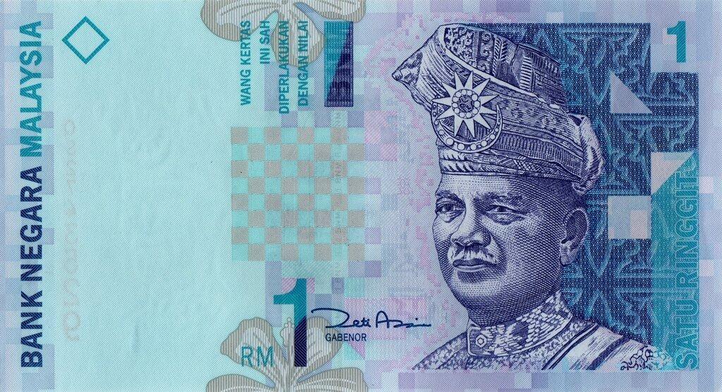 Malezja 1 ringgit Używany banknot