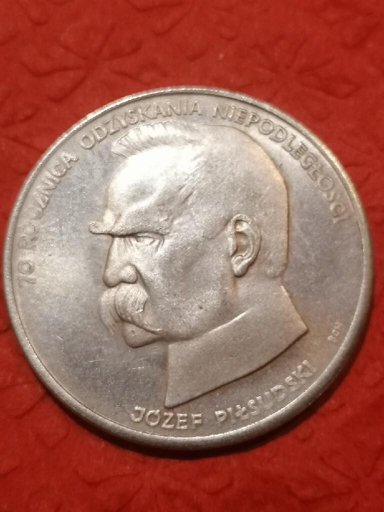 50000 zł złotych Józef Piłsudski 1988