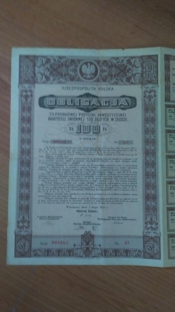 Купить Облигация на 100 злотых золотом. на Otpravka - цены и фото - доставка из Польши и стран Европы в Украину.