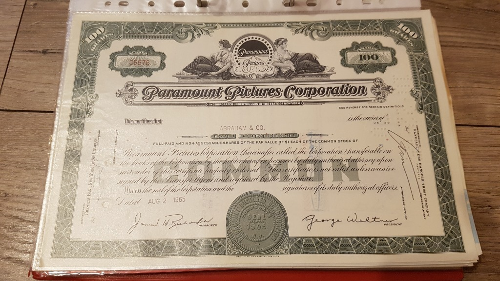 Paramount Pictures - wytwórnia - akcja z 1965