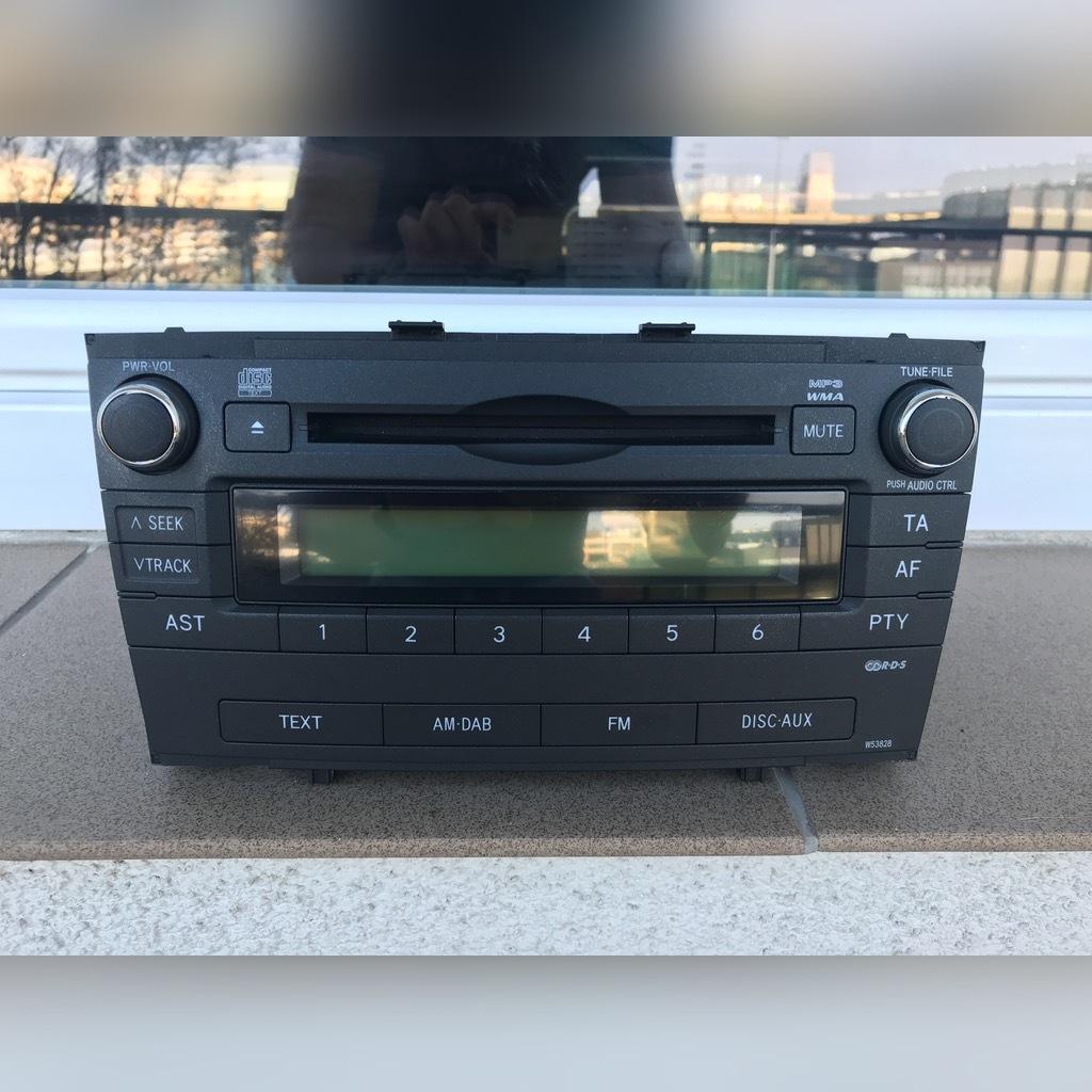 toyota avensis t27 радио w53828 идеал