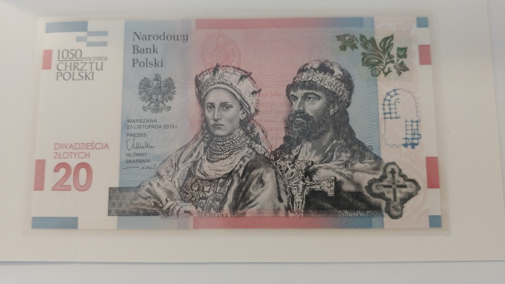 20zl 1050 Rocznica Chrztu Polski Unc Banknot Kup Teraz Za 1450 00 Zl Gorzow Wielkopolski Allegro Lokalnie