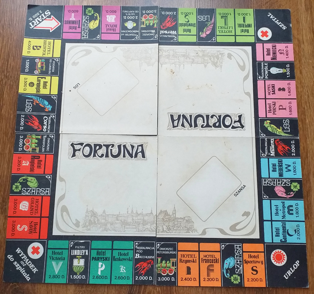 Licytacja Fortuna Gra Planszowa Rok 1984 Unikat Klasyk Tychy Allegro Lokalnie