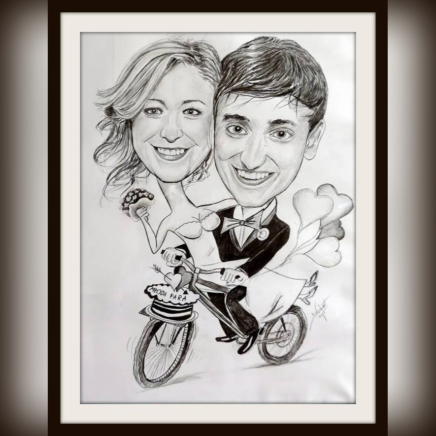 Item Caricature by photo. 30x42cm 1 person