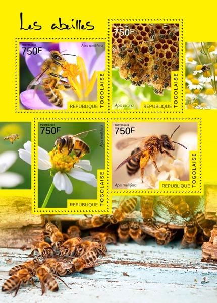 Znaczek - Bloczek - Togo - 2014 - Pszczoły
