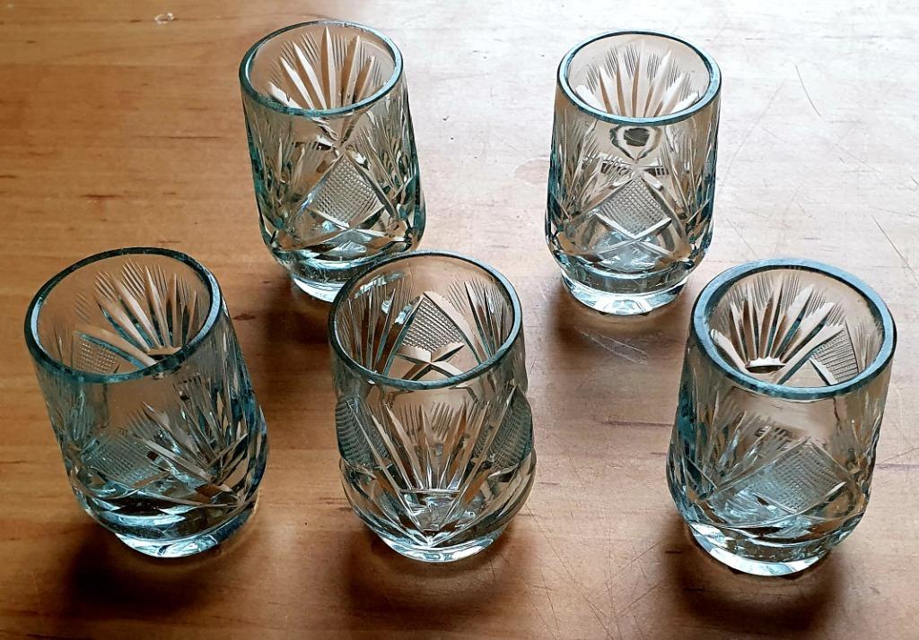 Komplet krzyształowych kieliszków kryształ PRL