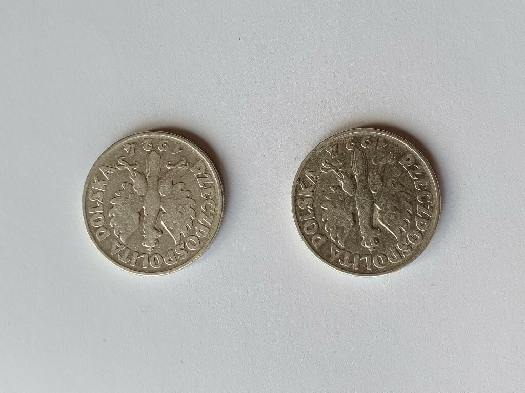 II RP: 2 monety 2 ZŁOTE 1924r. - ODWROTKI
