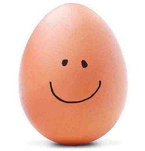 Jajko z cholesterolem ale uśmiechnięte