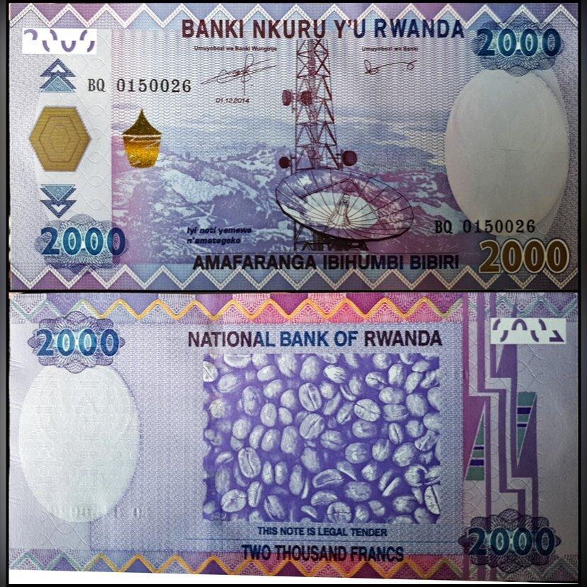 Rwanda 2000 Francs p-40 2014 UNC Banknote
