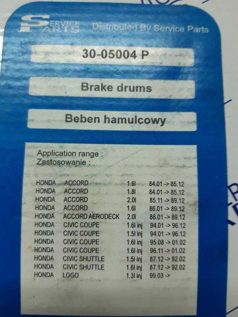 комплект  2 барабаны   4 челюсти + пружины  honda