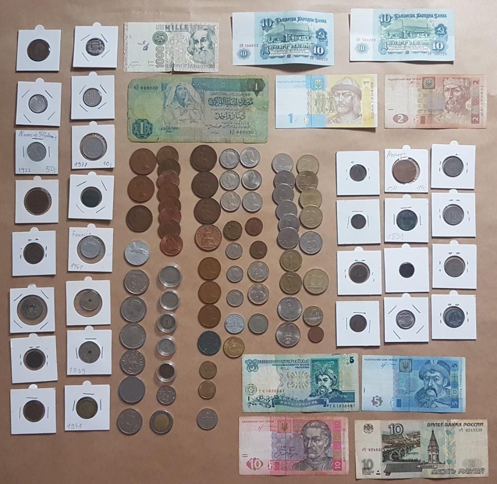Kolekcja Zestaw Starych monet i banknotów