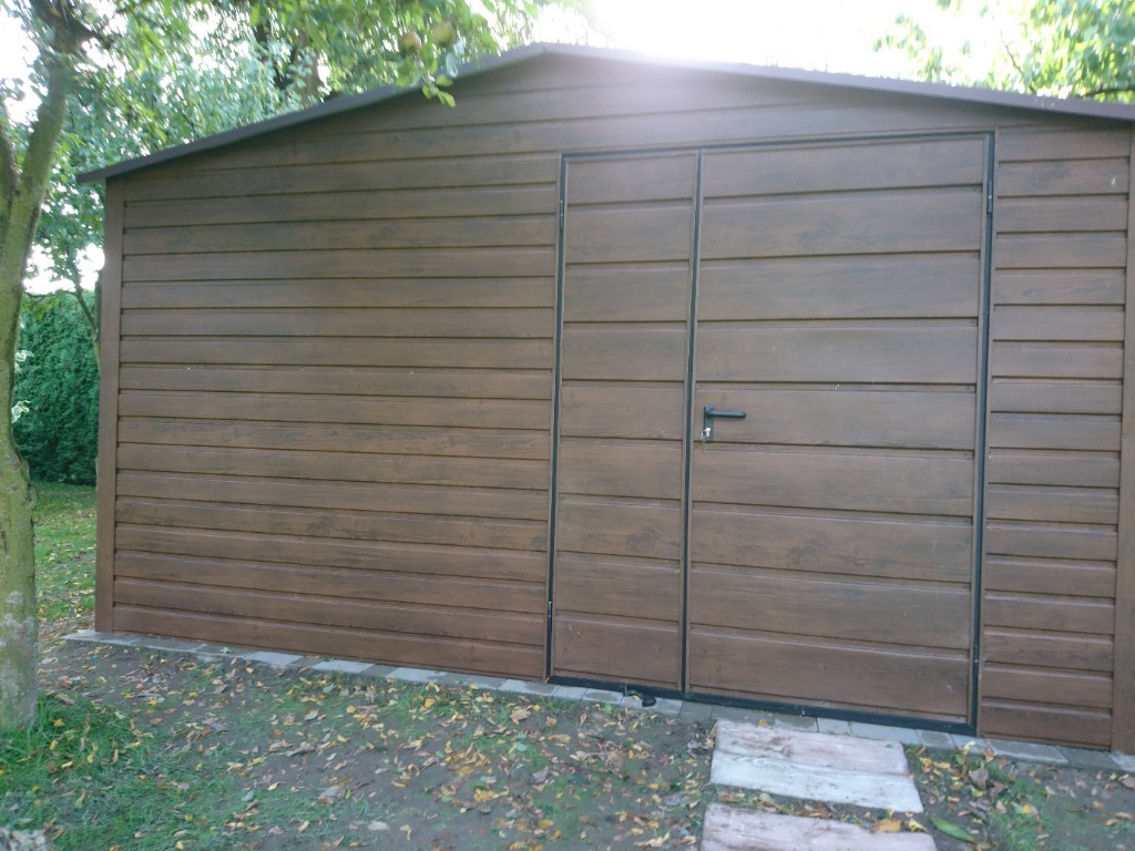 Garaż blaszany domek narzędziowy