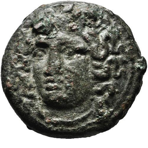 Tessalia Larissa, nimfa i koń, 350-325 BC, PIĘKNA!
