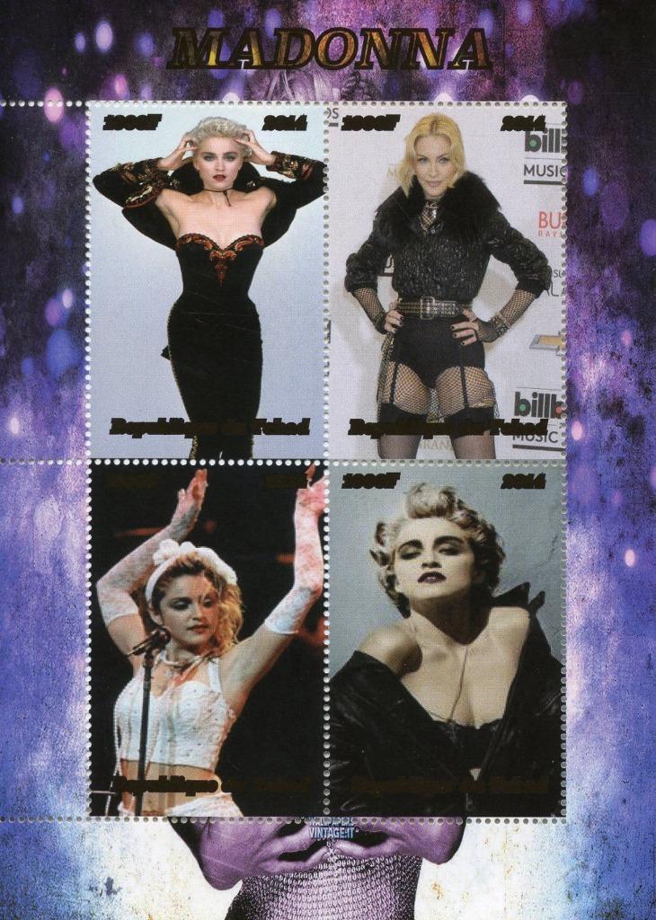 MADONNA *znaczki*  11 x 15.5 cm