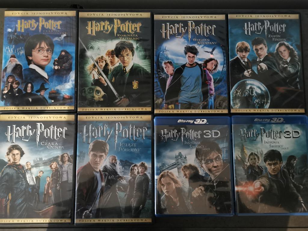 Harry Potter Wszystkie Czesci Dvd I Blu Ray 3d Kup Teraz Za 140 00 Zl Inowroclaw Allegro Lokalnie