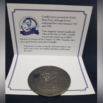 Medal kolekcjonerski token moneta MAHATMA GANDHI