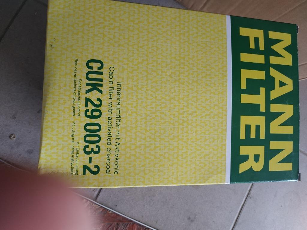 mann-filter cuk 29 003-2 кабины