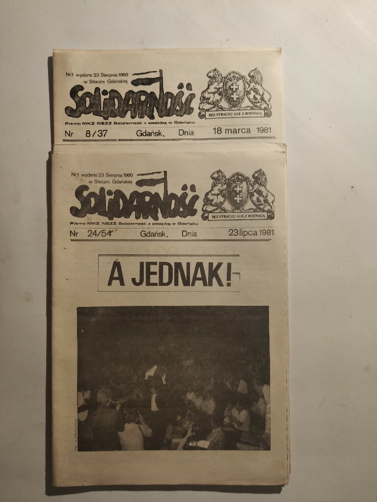Pismo MKZ NSZZ Solidarność Nr. 8/37 i 24/54