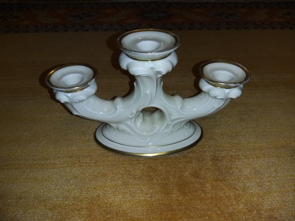 1914 Porcelanowy Świecznik