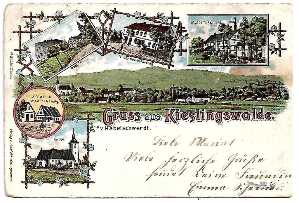 Idzików, (Kieslingswalde), 1902rok