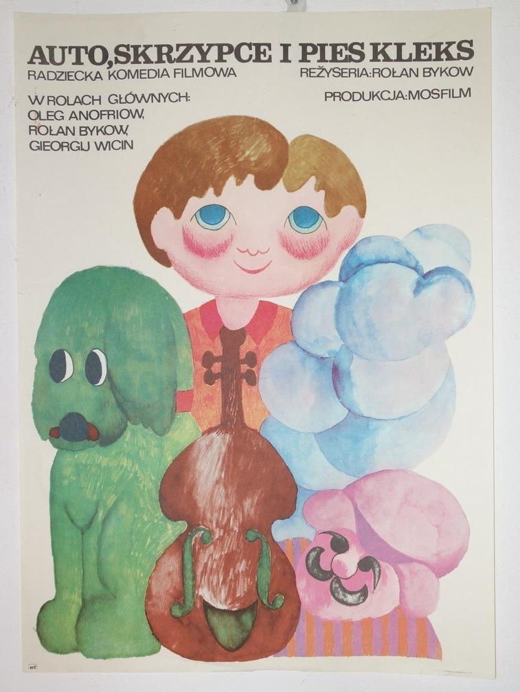 Auto skrzypce i pies kleks, Bodnar, Oryginał, 1975