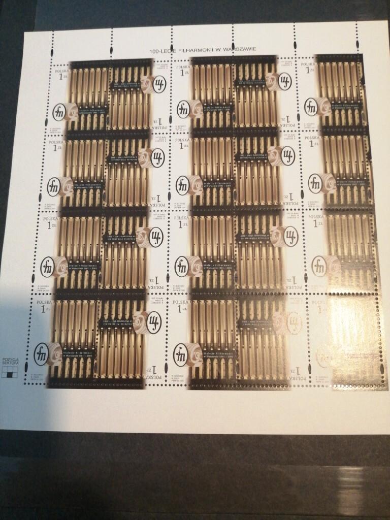 Znaczki arkusz Fi 3779 czysty