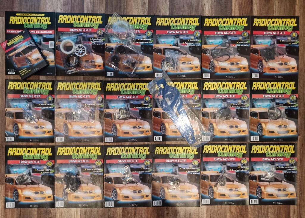 RADIOCONTROL TUNING BMW M3 GTR - kolekcja od 1-17