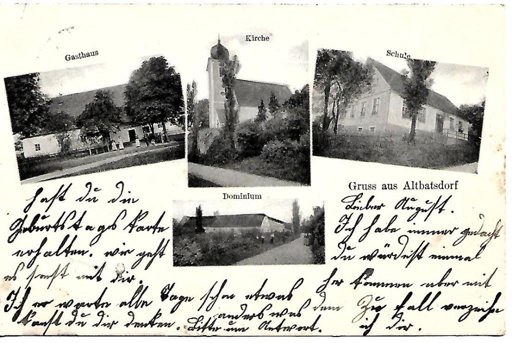 Starkówek, (Altbatsdorf), 1908 rok!
