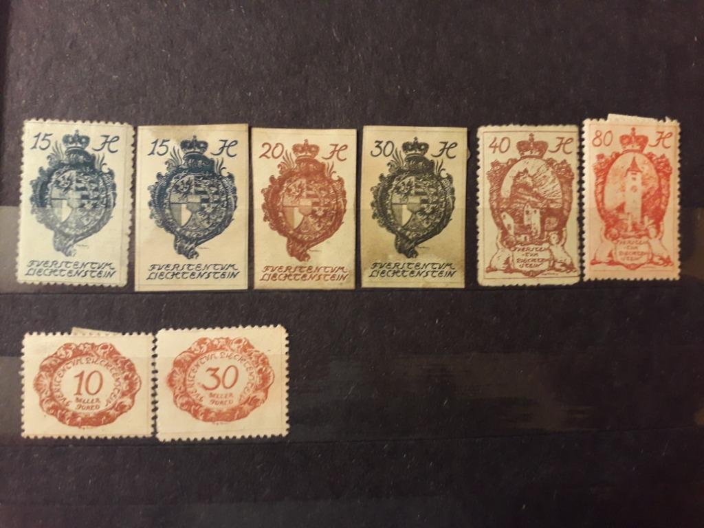 Okazja - znaczki pocztowe z Liechtenstein 1920