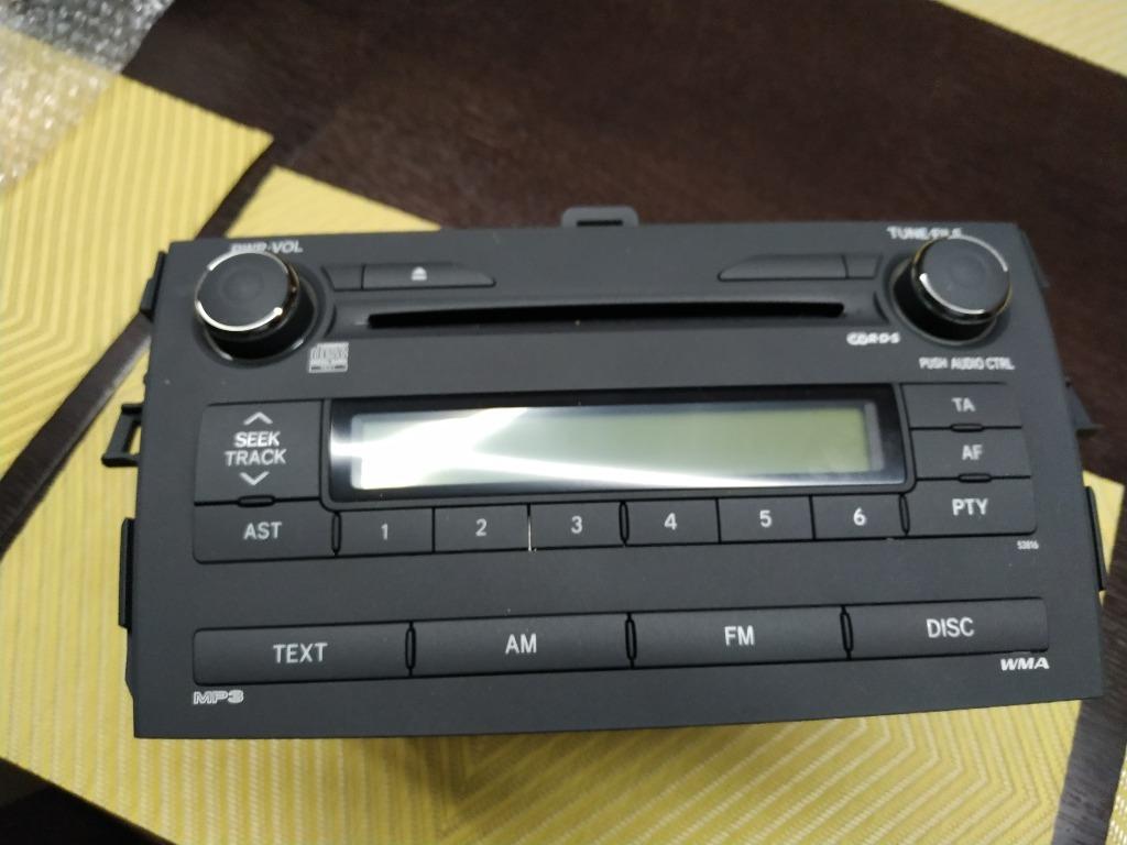 брак радио corolla e15 2008  новый панель