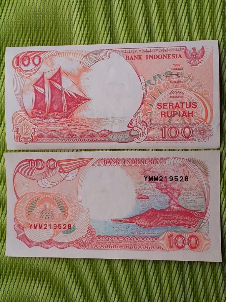 100 RUPI 1988 INDONEZJA UNC
