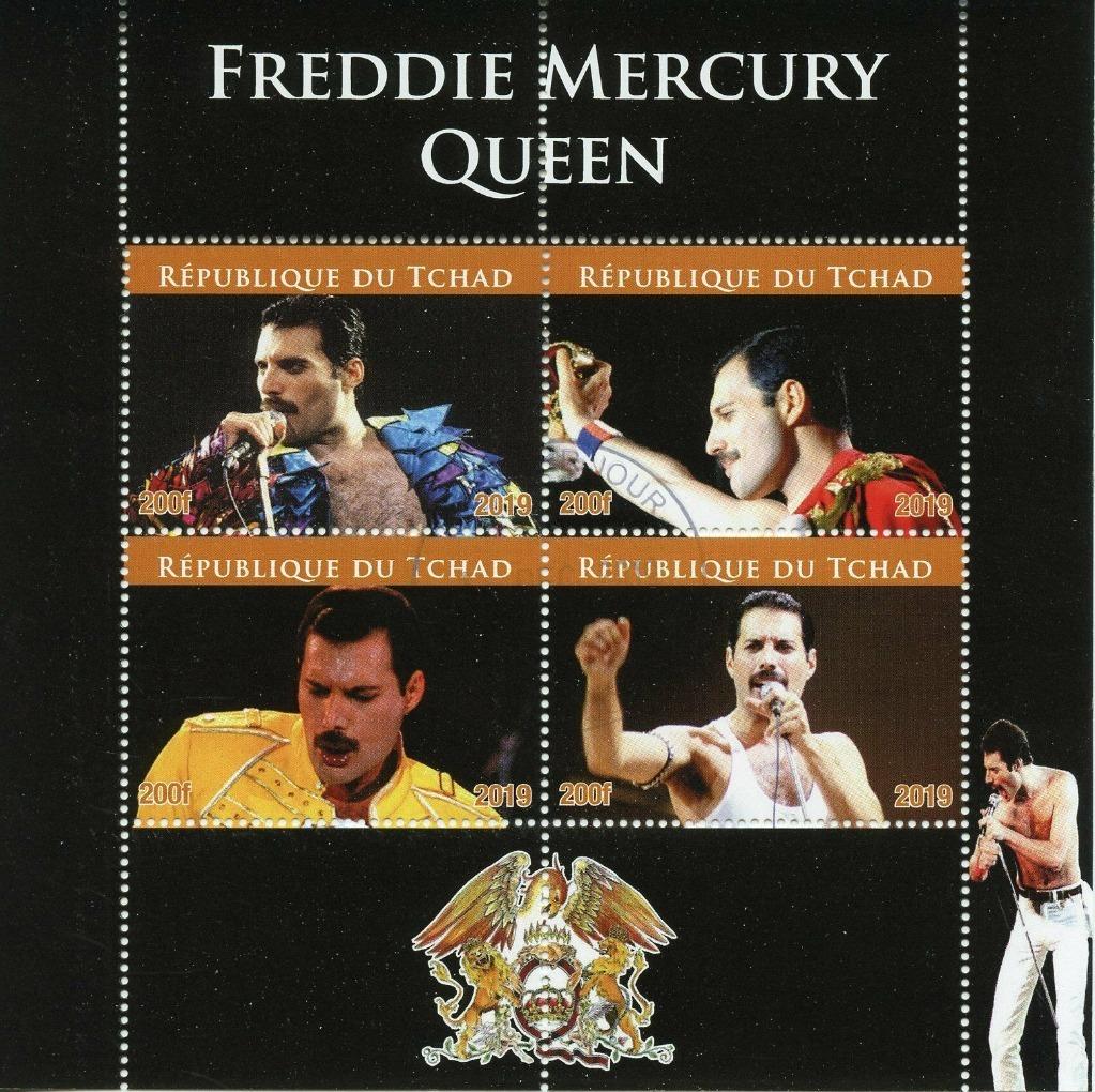 FREDDIE MERCURY/QUEEN *znaczki*  13,5 x 13 cm