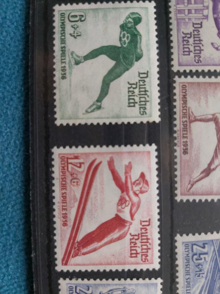 Znaczki z olimpiady 1936