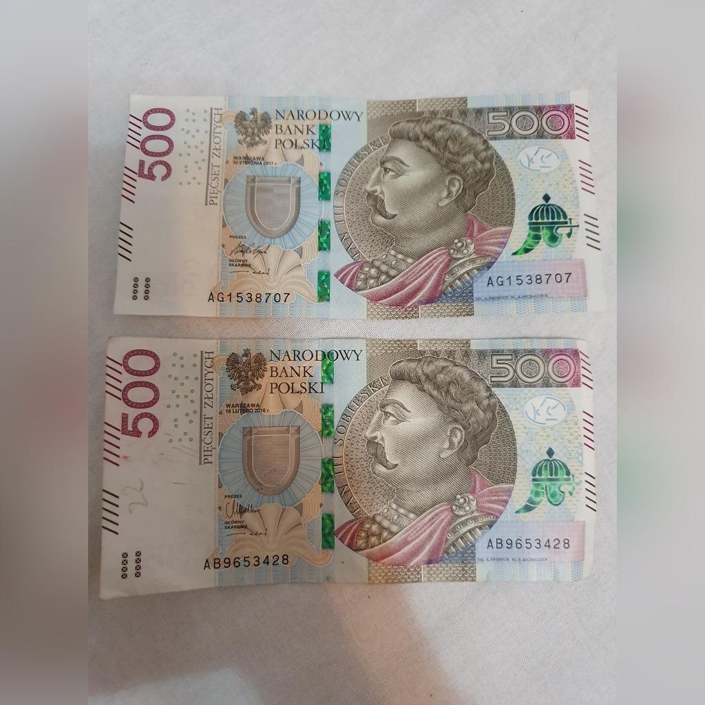 Banknot 500 Zl Seria Ab I Ag Kup Teraz Za 1200 00 Zl Gogolowice Allegro Lokalnie