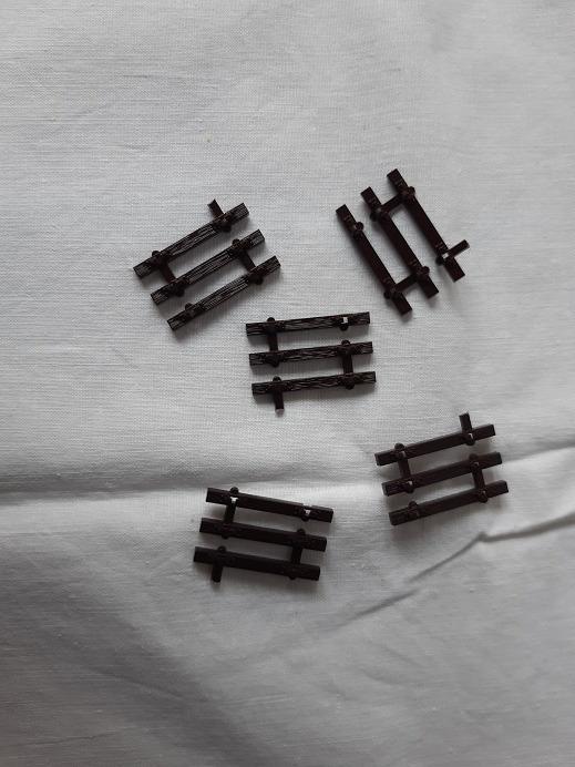 ROCO Zakończenie toru flex, drewno - 5 szt.